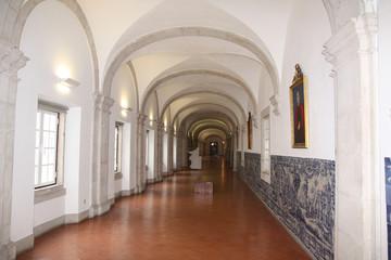 Lisbonne, couloir du couvent de Saõ Vincente de Fora