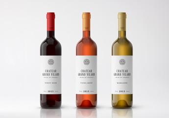 3 Wine Bottle Mockups 1