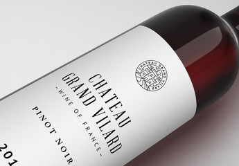 Red Wine Bottle Mockup 1