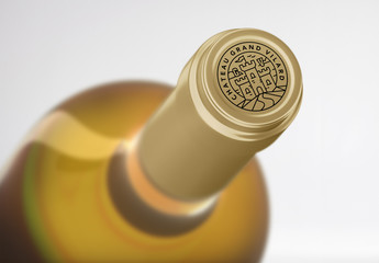 Wine Bottle Top Mockup