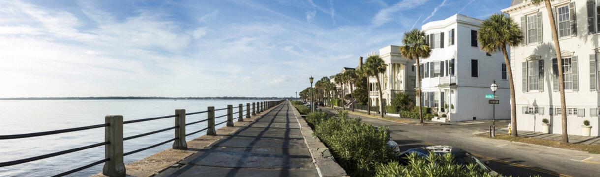 East Bay Street in Charleston, South Carolina, 180 degree panora