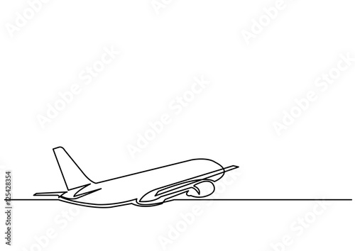 Line Drawing Jet : Quot continuous line drawing of jet plane stock image and