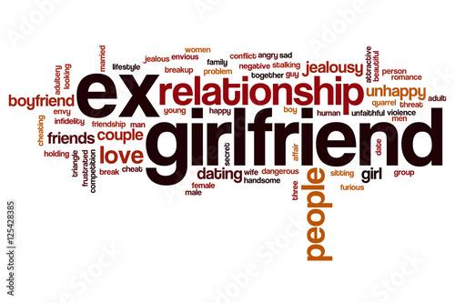 ex girlfriend word cloud stockfotos und lizenzfreie bilder auf bild 125428385. Black Bedroom Furniture Sets. Home Design Ideas