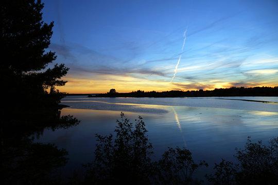 Sunset near Bar Harbor