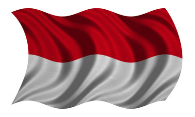 Flag of Indonesia, Monaco, Hesse wavy, textured