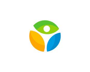 People Wellness Logo Design Template Element