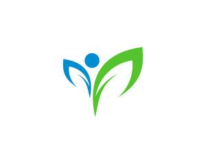 Organic Wellness Logo Design Template Element
