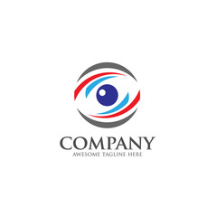 Eyes Logo vector template. circle Vision Logotype concept. optic and eye lens logo vector.