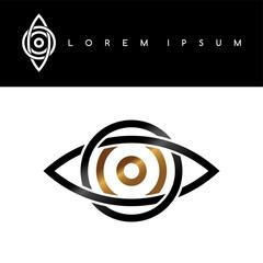 celtic eye symbol gold black monochromatic abstract concept logo logotype