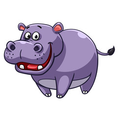 Hippopotamus cartoon style