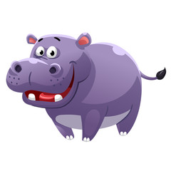 Hippopotamus cartoon style
