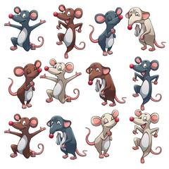 Rat in different colors
