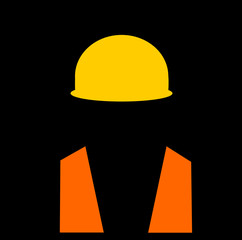 man wearing safety vest and hard hat