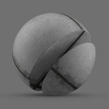 Gray travertine stone