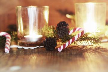 xmas background tree wood ribbon candle
