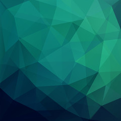 Background of geometric shapes. Dark green mosaic pattern. Vector EPS 10. Vector illustration