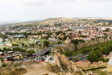 Beautiful panoramic view of Tbilisi