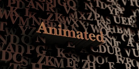 Animated - Wooden 3D rendered letters/message.  Can be used for an online banner ad or a print postcard.