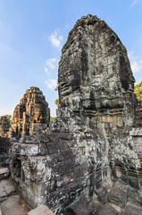 Faces on the temple's towers, Angkor Wat-Angkor Thom,City of Tem