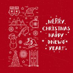 Christmas frame template card.