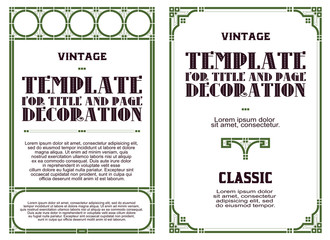 Vector template advertisements, invitations or other flyer