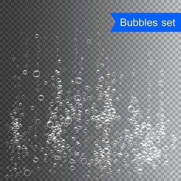 Bubbles under water vector illustration on transparent background