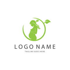 Beauty logo template. Design concept for sport, spa, yoga etc. Easy to edit, change size, colour and text.