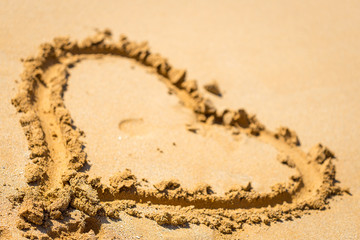 Sand Heart using for Wallpaper, Horizontal View