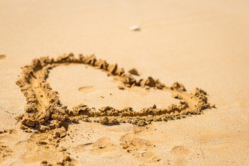 Valentines Day on the Beach, Love Concept