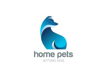 Dog Logo design vector. Home pets care veterinary clinic icon