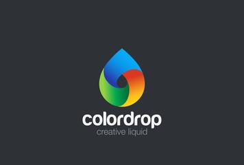 Water drop Logo design vector. Liquid Droplet Logotype icon
