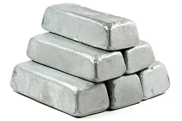 zinc bars isolated on white background