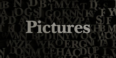Pictures - Stock image of 3D rendered metallic typeset headline illustration.  Can be used for an online banner ad or a print postcard.
