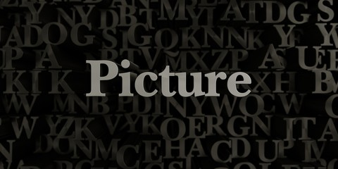 Picture - Stock image of 3D rendered metallic typeset headline illustration.  Can be used for an online banner ad or a print postcard.