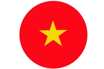 Vietnam flag ,Vietnam national flag illustration symbol. Circle flag illustration design
