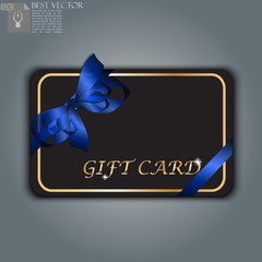 gift card with realistic ribbon