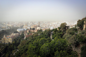 City of Malaga panorama, Spain