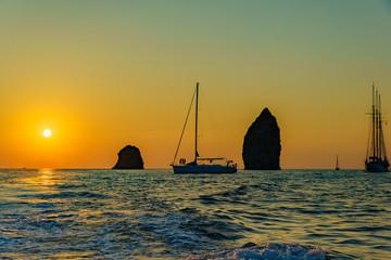 lonely rocks in sea between lipari and volcano, Sicily