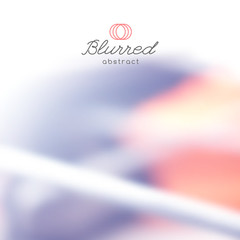vector abstract background with blurred lines and shapes