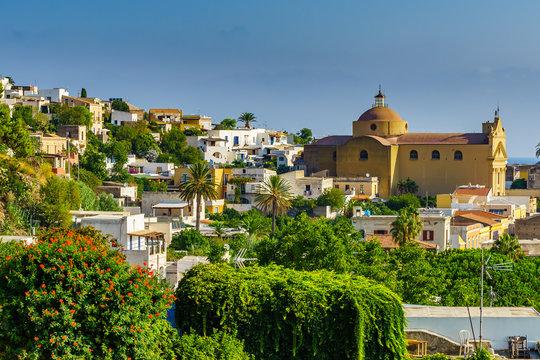 Church Santa Marina Salina aeolian islands, Sicily
