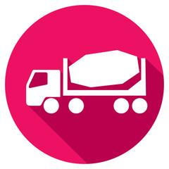 concrete mixer truck flat icon