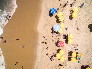 Top View of Cocanha Beach, Caraguatatuba, Sao Paulo, Brazil