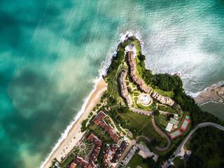 Top View of Tabatinga Beach, Caraguatatuba, Sao Paulo, Brazil