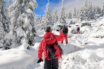 Winter Trekking in Carpathian Mountains