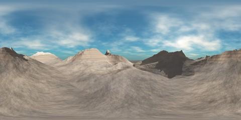 Panorama Mountains. Environment map. HDRI map. Equirectangular projection. Spherical panorama.