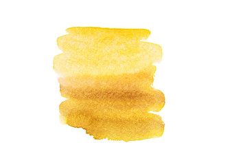 yellow watercolor on paper