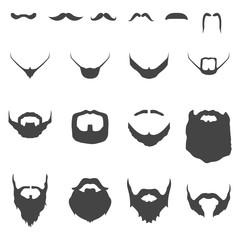 Mustache Beard Man Face Style Vintage Element Silhouette Icon