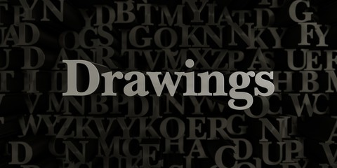 Drawings - Stock image of 3D rendered metallic typeset headline illustration.  Can be used for an online banner ad or a print postcard.