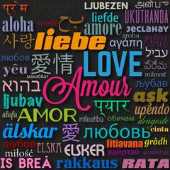 """mot""""amour,love"""" en différentes langues"""