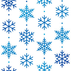 Seamless pattern with snowflakes ornament